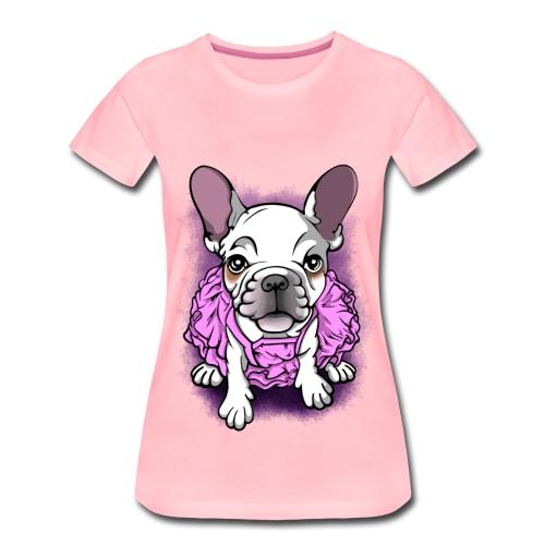 French Bull Dog Ballerina  - Women's Premium T-Shirt