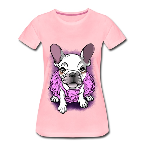 French Bull Dog Ballerina  - Women's Premium T-Shirt