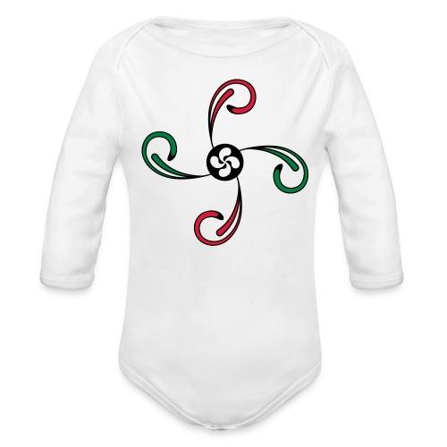 Croix du Pays Basque - Body bébé bio manches longues