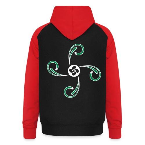 Croix du Pays Basque - Sweat-shirt baseball unisexe