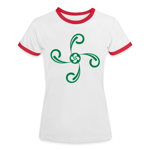 Croix du Pays Basque - T-shirt contrasté Femme