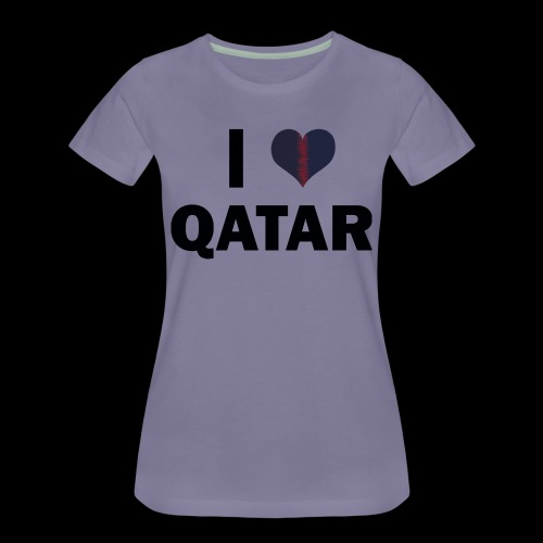 I LOVE QATAR - T-shirt Premium Femme
