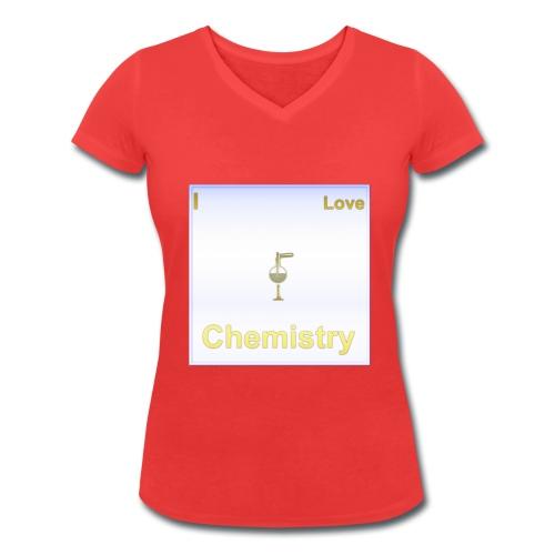 I Love Chemistry - Frauen Bio-T-Shirt mit V-Ausschnitt von Stanley & Stella