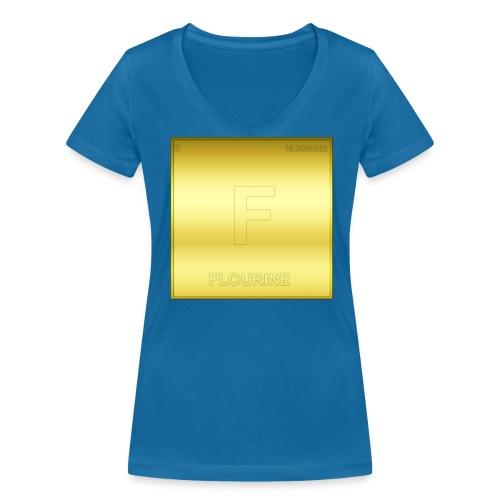 FLOURINE - Frauen Bio-T-Shirt mit V-Ausschnitt von Stanley & Stella