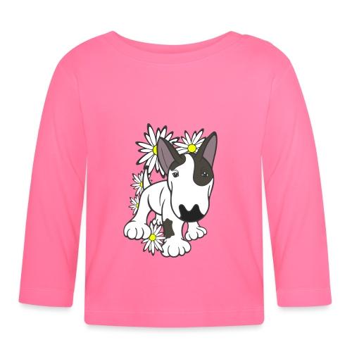 Daisy Bull Terrier Pup  - Baby Long Sleeve T-Shirt