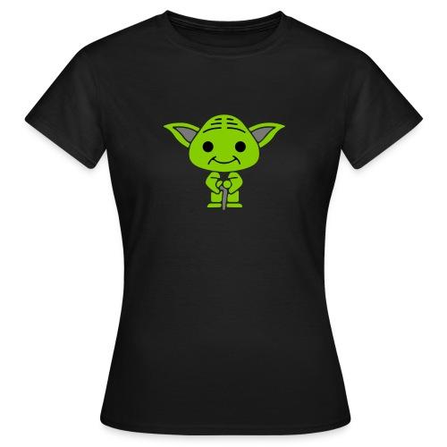 Tee-shirt Femme Maitre yoda - T-shirt Femme