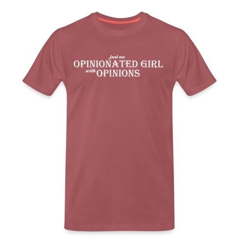 Opinionated girl regular - Premium-T-shirt herr