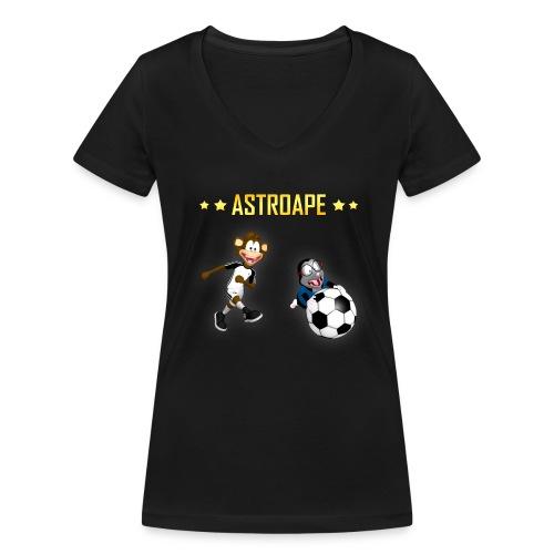 Astroape Torschuss Shirt Damen - Frauen Bio-T-Shirt mit V-Ausschnitt von Stanley & Stella