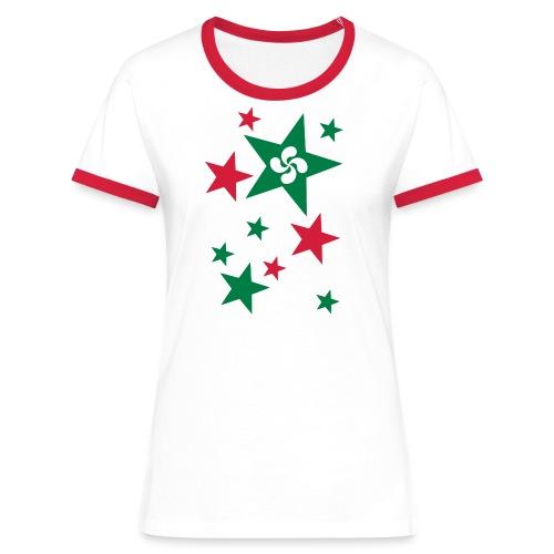 Basque Stars - T-shirt contrasté Femme