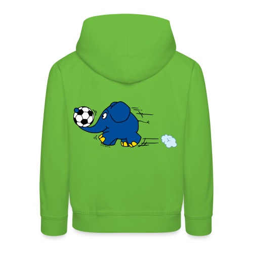Elefant spielt Fußball - Kinder Premium Hoodie