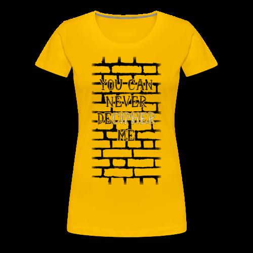 Frauenshirt - DeCipher - Frauen Premium T-Shirt
