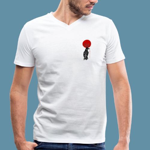Red sun shirt - small logo - T-shirt ecologica da uomo con scollo a V di Stanley & Stella