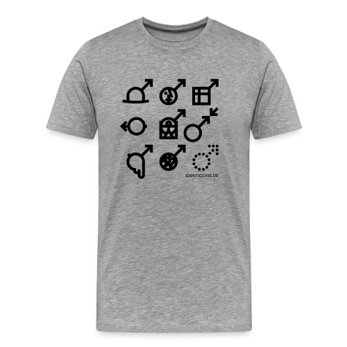 IDENTICONS Kunst - Männer Premium T-Shirt