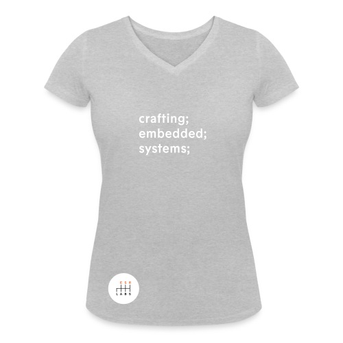 ESR Labs Basic Tee Tagline - Organic Female - Women's Organic V-Neck T-Shirt by Stanley & Stella