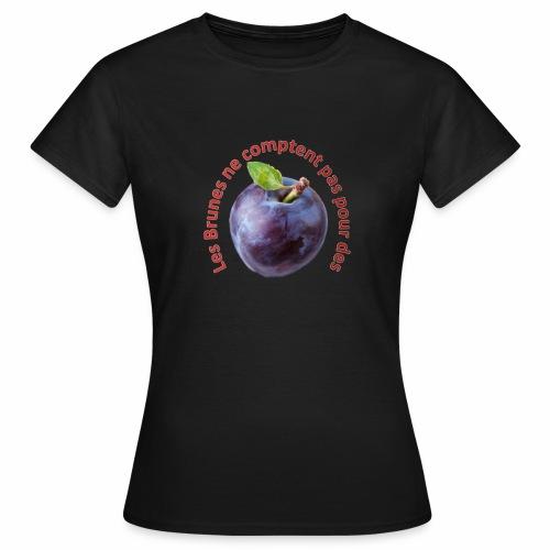 T-Shirt Brune - T-shirt Femme