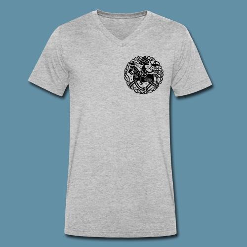 NORDIC WAY- logo (BLACK) - T-shirt ecologica da uomo con scollo a V di Stanley & Stella