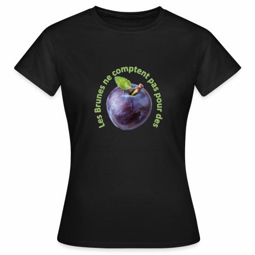 T-Shirt Brune - Texte Vert - T-shirt Femme