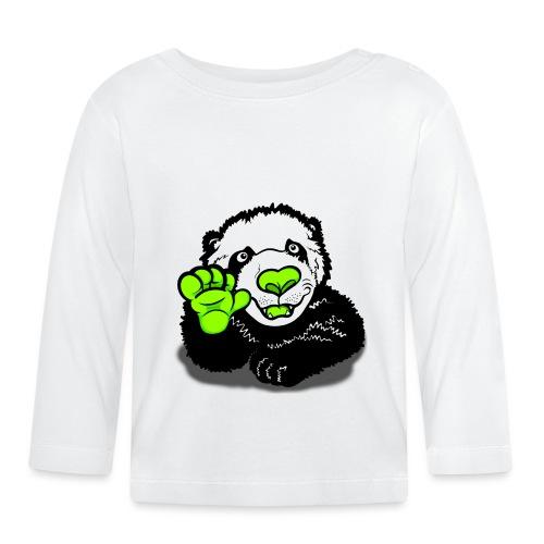 Hello Happy Panda  - Baby Long Sleeve T-Shirt