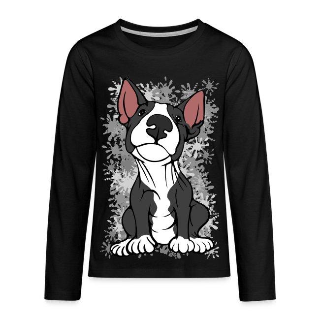 Cheeky Bull Terrier Black and White