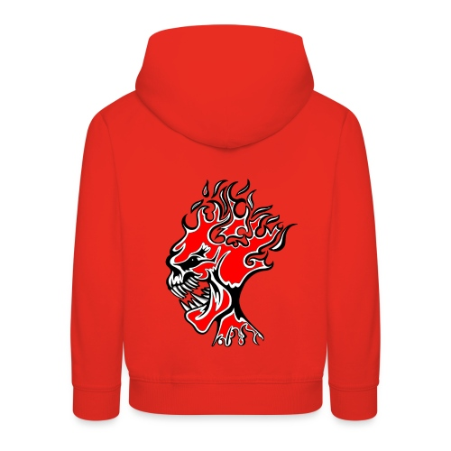 Flaming Burn Head  - Kids' Premium Hoodie