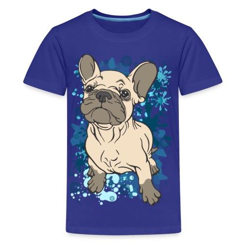 French Bull Dog Splash  - Teenage Premium T-Shirt