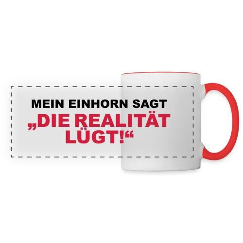 Kaffeetasse - Die Realität lügt - Panoramatasse
