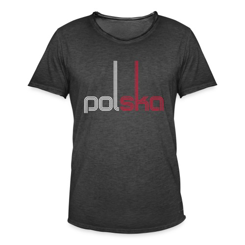 Männer Vintage T-Shirt - Wm,Sport,Polska,Polen,Poland,Fußball,Flagge