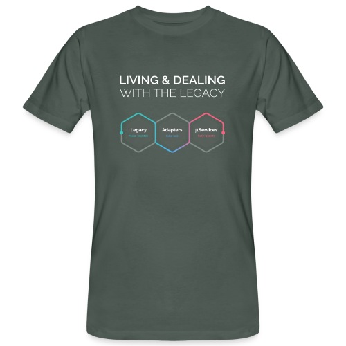 living and dealing with the legacy - Männer Bio-T-Shirt