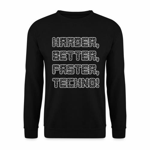 Harder Better Faster Techno - Pullover - Männer Pullover
