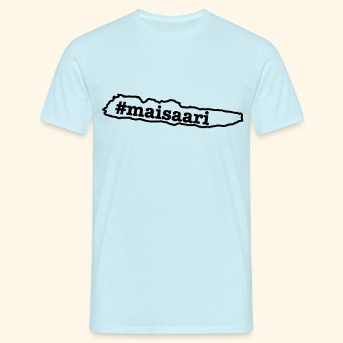 #maisaari musta painatus - Miesten t-paita