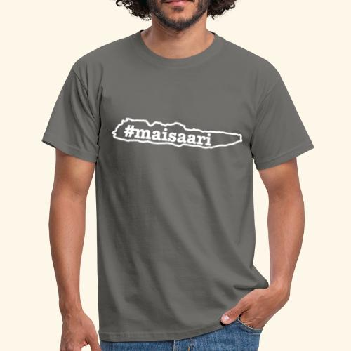 #maisaari valkoinen painatus - Miesten t-paita