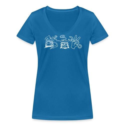Für Mädels - Frauen Bio-T-Shirt mit V-Ausschnitt von Stanley & Stella