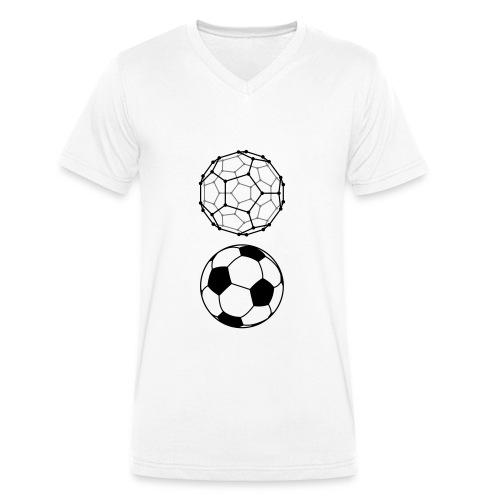 C60 Soccer / Fussball, Ms Organic V-Neck T-Shirt - Männer Bio-T-Shirt mit V-Ausschnitt von Stanley & Stella