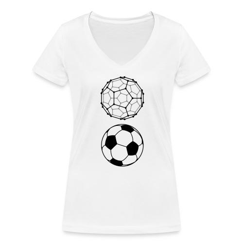 C60 Soccer / Fussball, Ws Organic V-Neck T-Shirt - Frauen Bio-T-Shirt mit V-Ausschnitt von Stanley & Stella