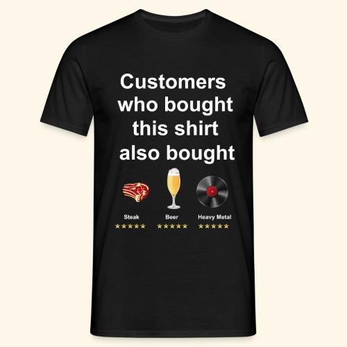 Funny T-Shirt Steak, Beer, Heavy Metal