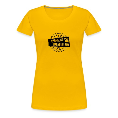 T-Shirt Radnacht Frauen gelb - Frauen Premium T-Shirt
