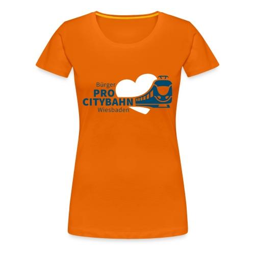 ProCB Damen-Shirt, Logo vorne groß - Frauen Premium T-Shirt