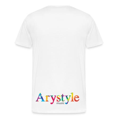 T-shirt Arystyle Multicolor 2 Double face  - T-shirt Premium Homme