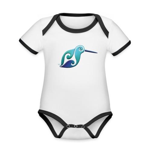 Kiwi Baby rompertje, korte mouwen - Organic Baby Contrasting Bodysuit