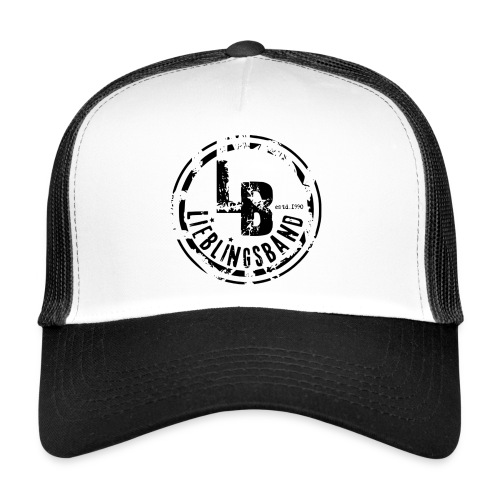 Trucker Cap Black & White LB - Trucker Cap