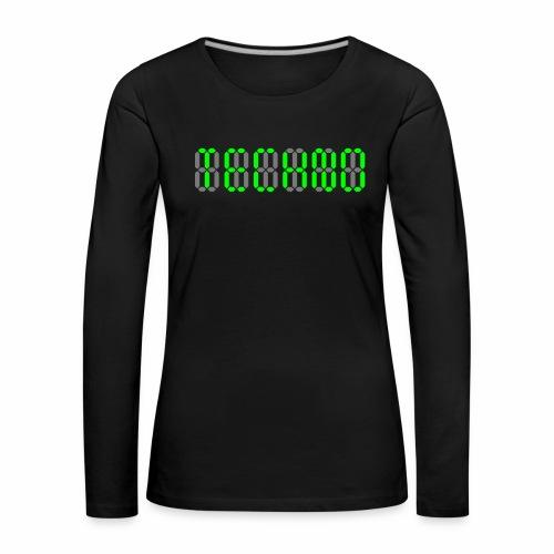 Techno Display - langarm Shirt - Frauen Premium Langarmshirt