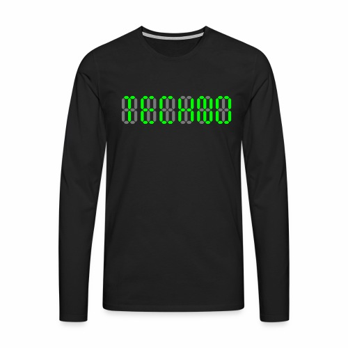 Techno Display - langarm Shirt - Männer Premium Langarmshirt