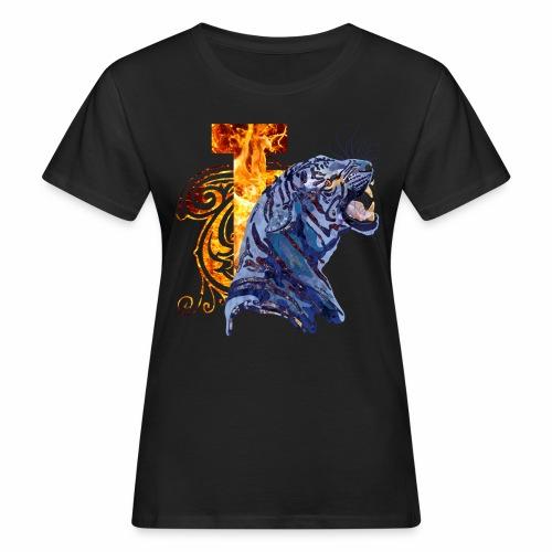 Tiger_in_Camouflage T-Shirts - Frauen Bio-T-Shirt