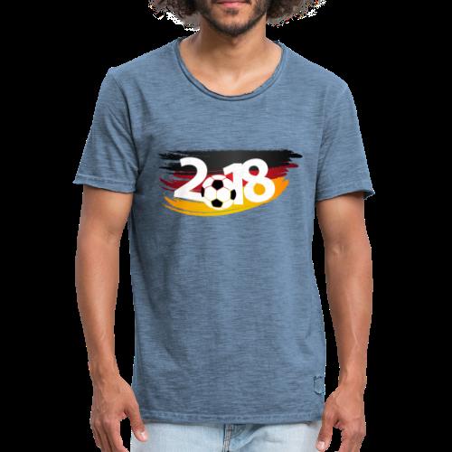Männer Fußball Shirt  - Männer Vintage T-Shirt