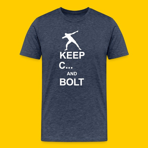 Keep calm and Bolt - Men's Premium T-Shirt