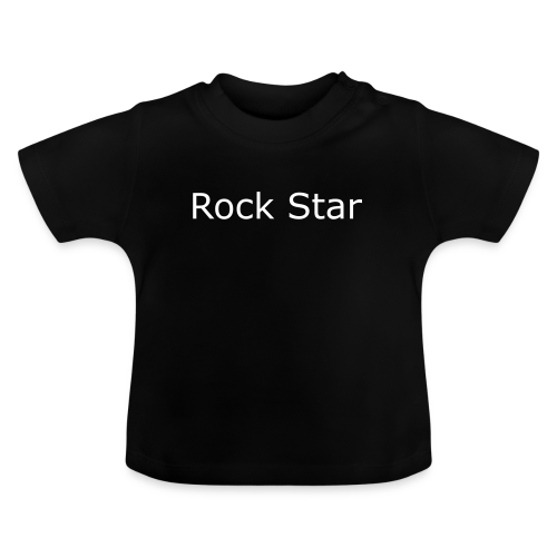 Schwarzes Babyshirt Rock Star - Baby T-Shirt
