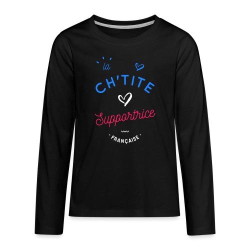 La ch'tite supportrice - T-shirt manches longues Premium Ado