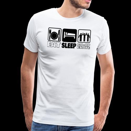 Eat, Sleep, Co-op - Men's Premium T-Shirt