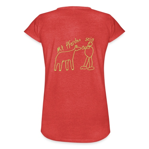 Naiv Print - Frauen Vintage T-Shirt