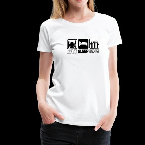 Eat, Sleep, Co-op - Women's Premium T-Shirt